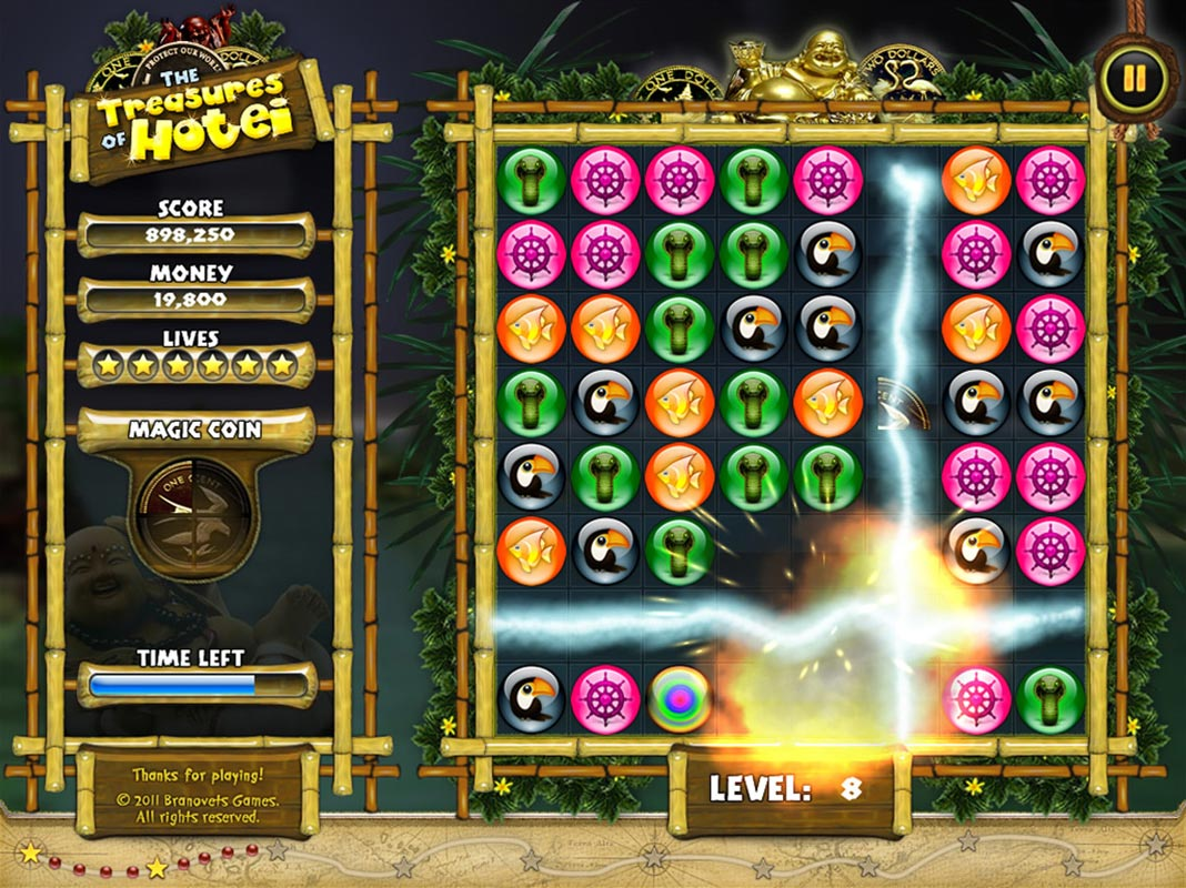 the Treasures of Hotei match3 game